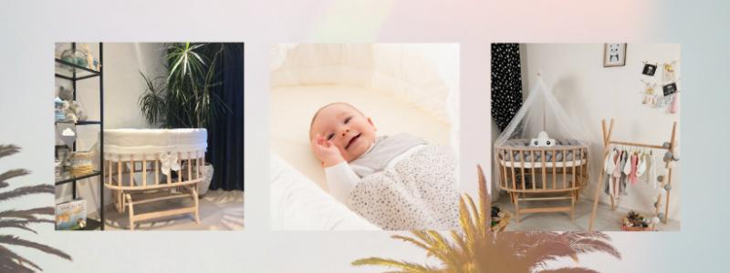 ovaal wiegje BabyRace - babywiegjes - inspiratie babykamer - schommelwieg