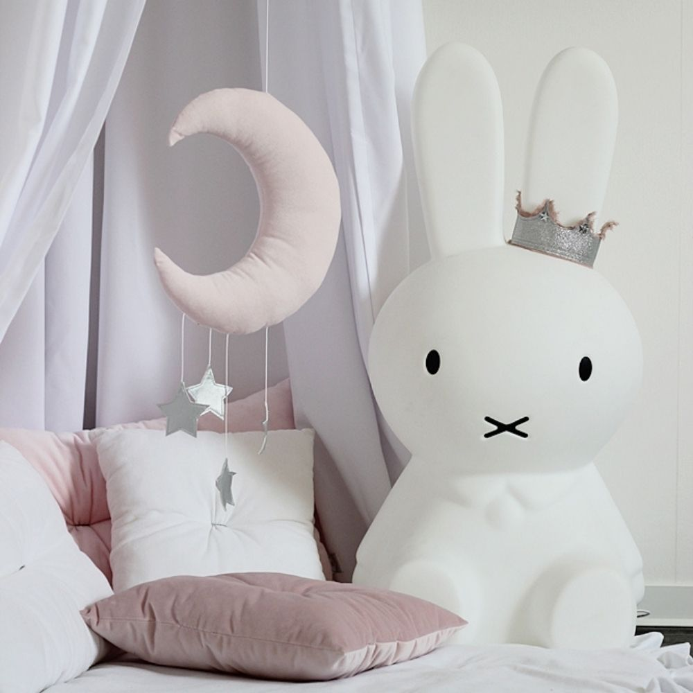 roze baby mobiel maan en sterren - cotton and sweets - babyrace