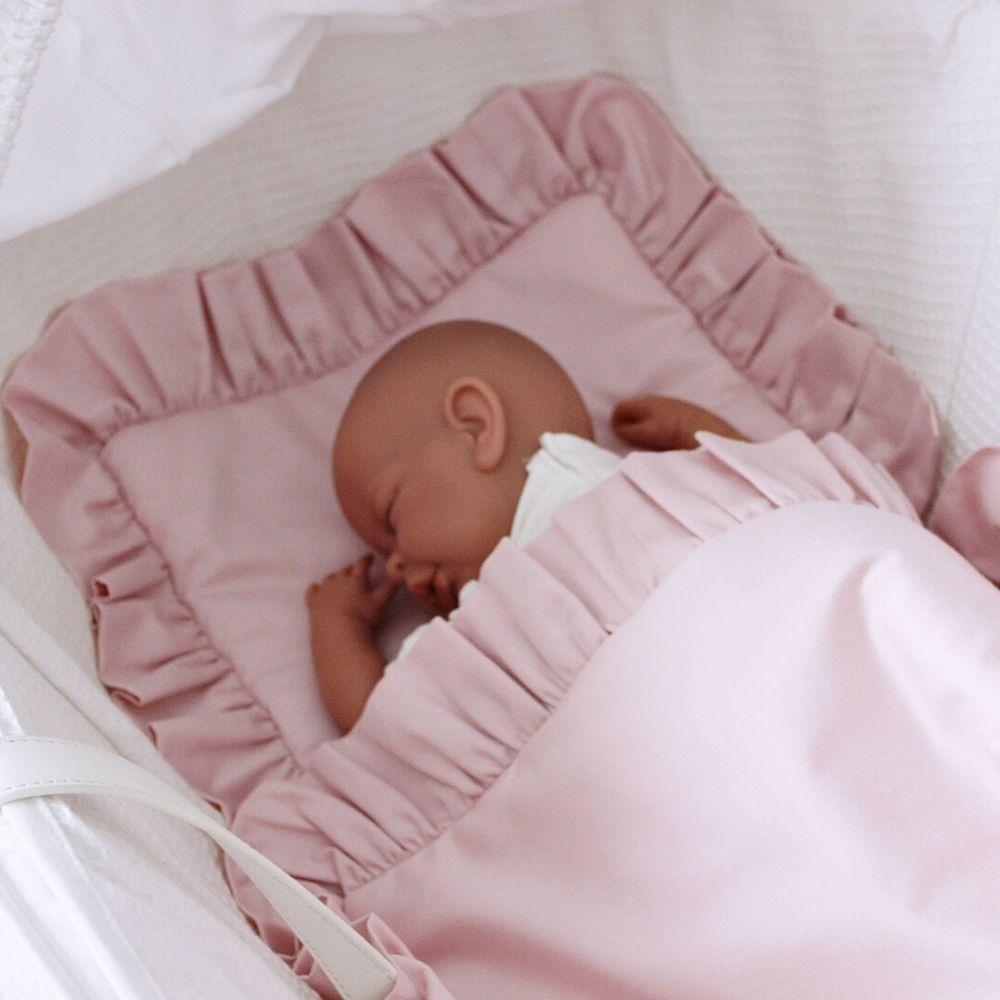 baby beddengoed set roze - cotton and sweets - babyrace - wiegdeken baby