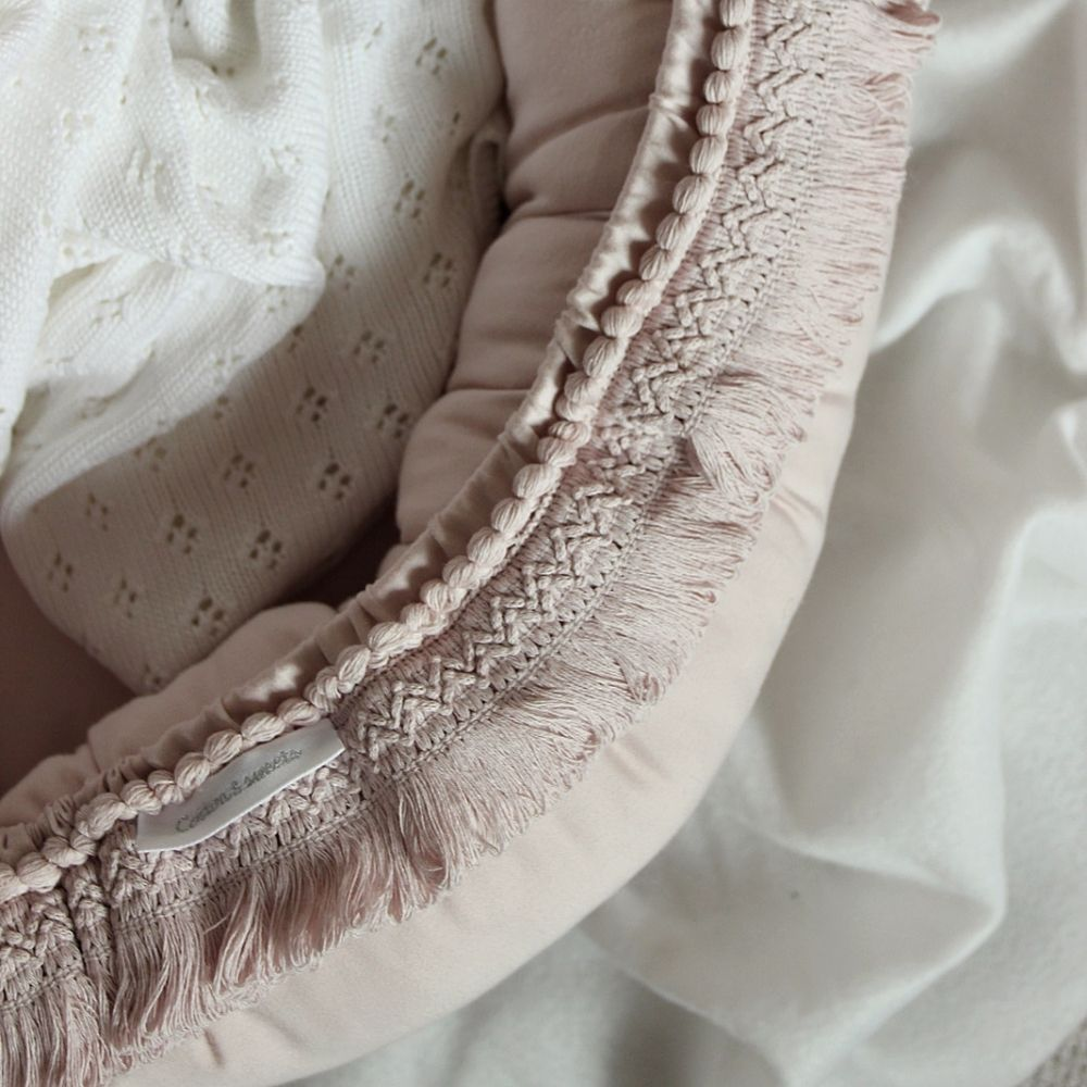 boho baby nest powderpink