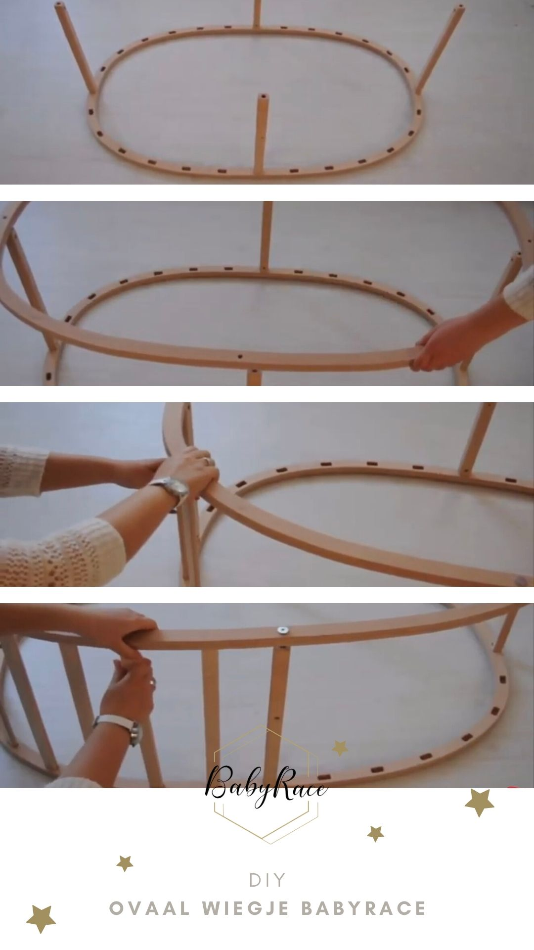 DIY ovaal wiegje BabyRace montage 1