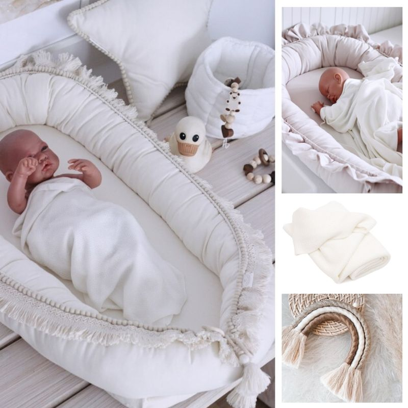 bamboo swaddle deken - cotton and sweets - babyrace - wiegdeken wit - ledikantdeken wit