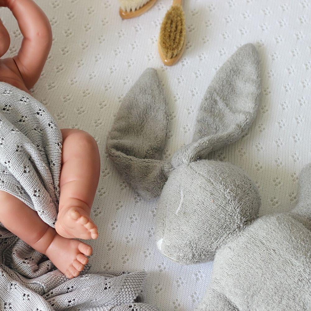 inbakerdoek baby grijs - babydeken grijs