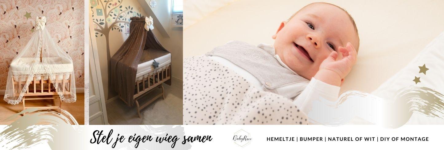 stel je eigen wieg samen - babywieg aan bed - luxe babywieg - BabyRace